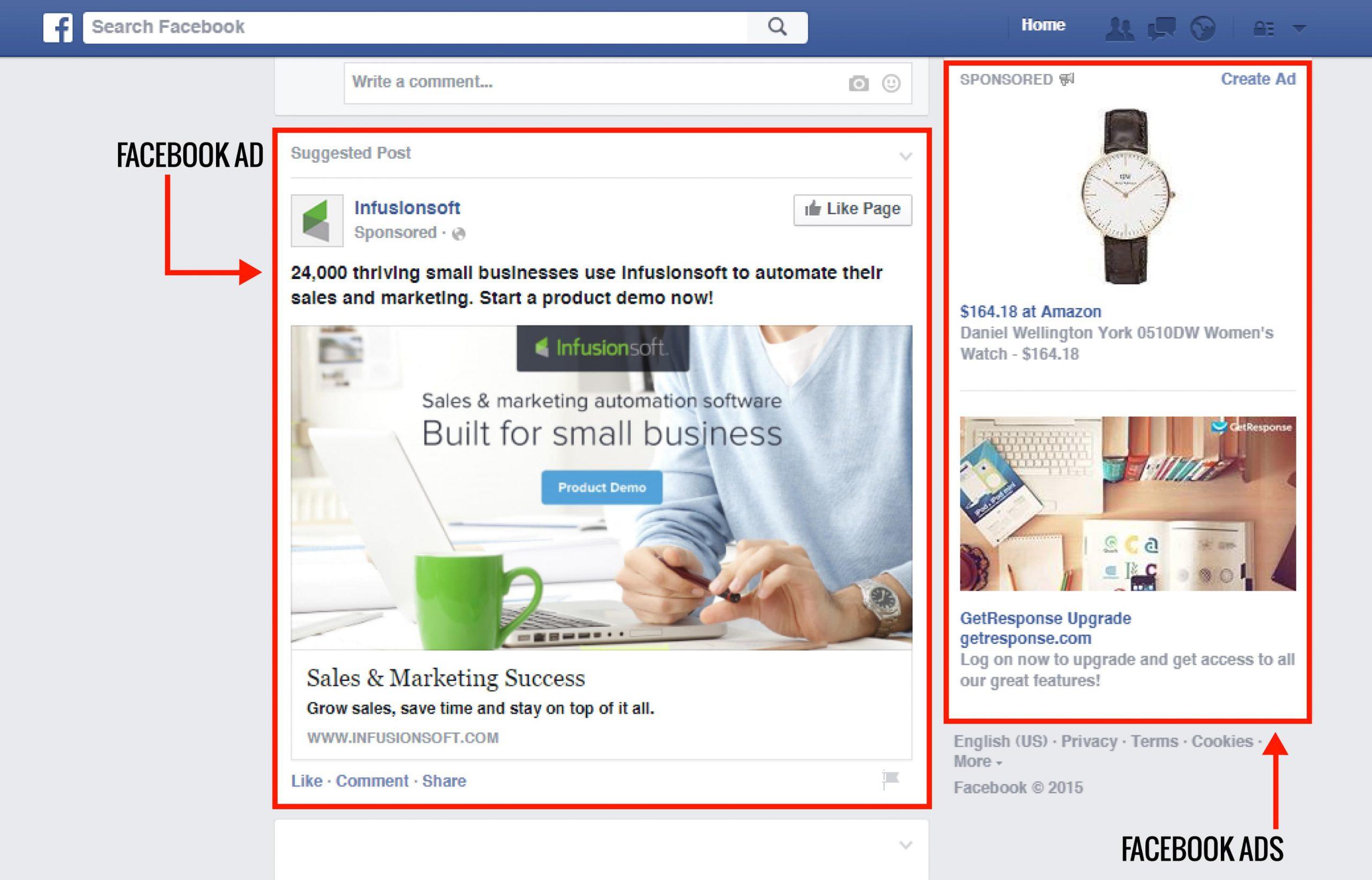 تبلیغات درشبکه های اجتماعی فیس بوک